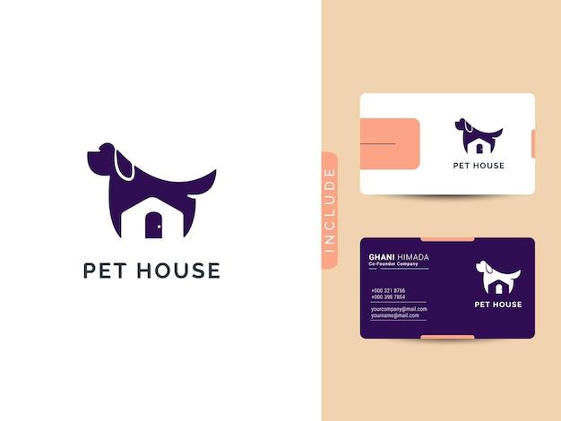Conceito de design de logotipo de pet house