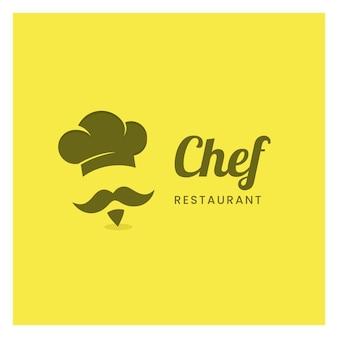 Conceito de design de logotipo de restaurante ou café