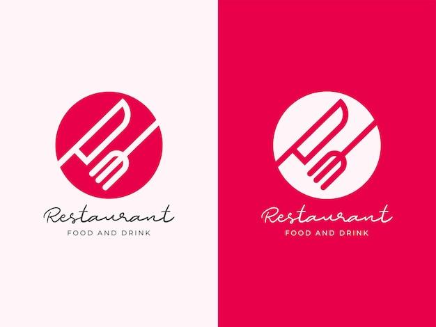 Conceito de design de logotipo de restaurante