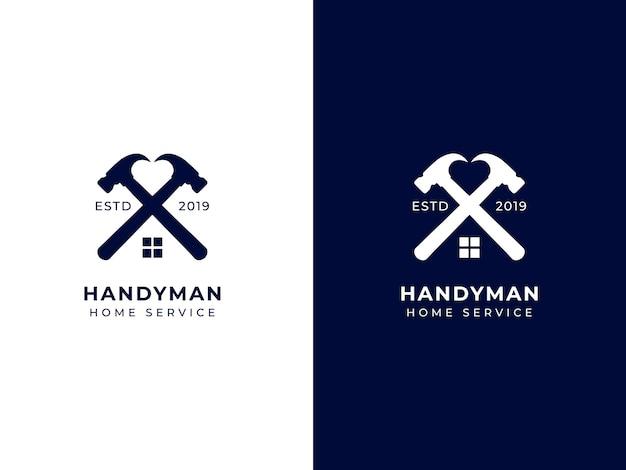 Conceito de design de logotipo de serviço doméstico faz-tudo