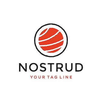 Conceito de design de logotipo de sushi