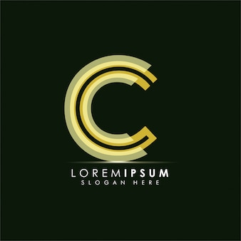 Conceito de design de logotipo letra c