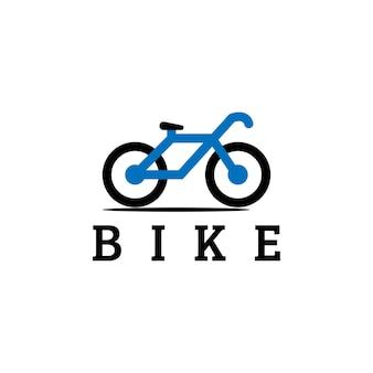 Conceito de design de logotipo minimalista de ilustração de bicicleta limpa