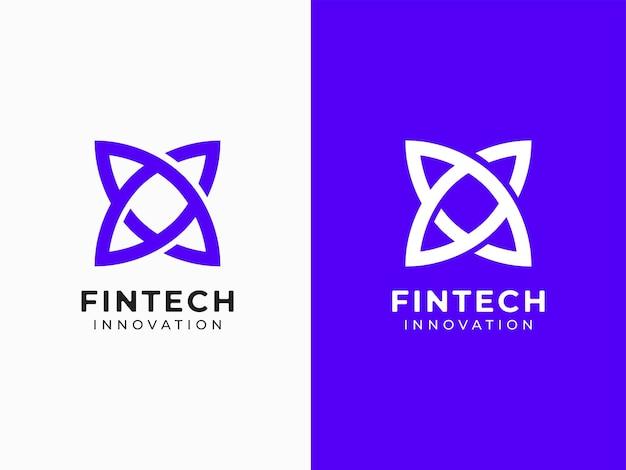 Conceito de design de logotipo moderno da fintech