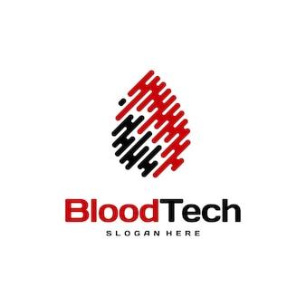 Conceito de design de logotipo pix blood technology, modelo de design de logotipo blood healthcare