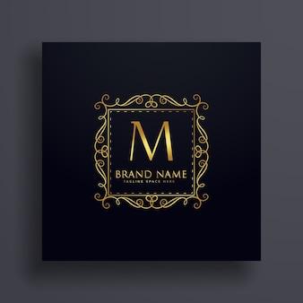 Conceito de design de logotipo premium da letra m para sua marca