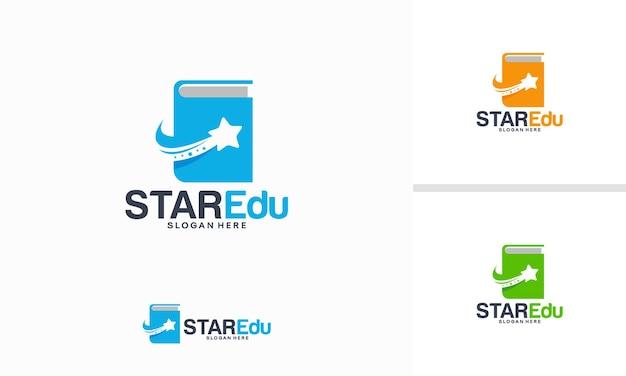 Conceito de design de logotipo star education, vetor de modelo de logotipo elite school