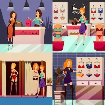 Conceito de design de loja de lingerie
