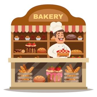 Conceito de design de loja de padaria