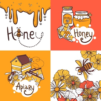 Conceito de design de mel