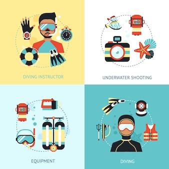Conceito de design de mergulho