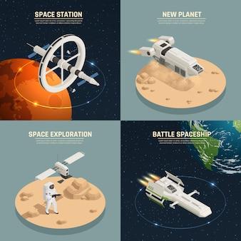 Conceito de design de nave espacial