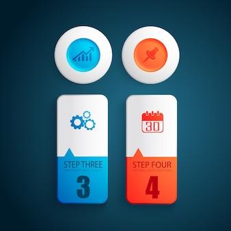 Conceito de design de negócios colorido com formas redondas coloridas