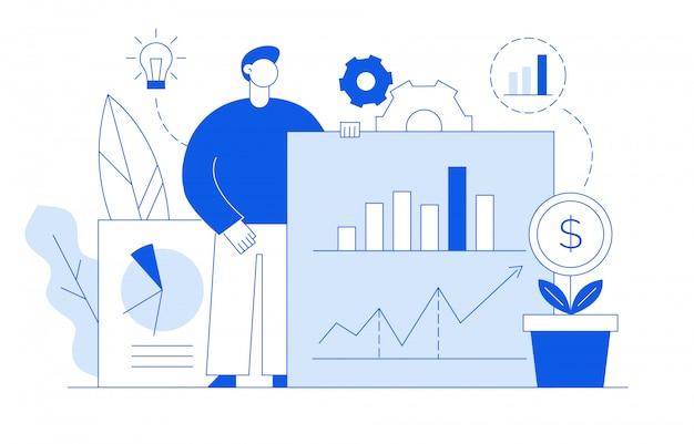 Conceito de design de negócios e finanças