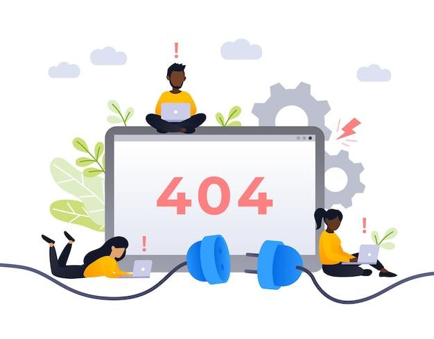 Conceito de design de página de erro 404