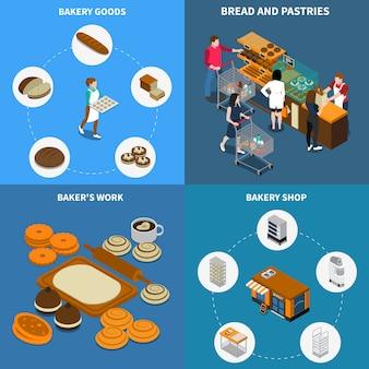 Conceito de design de pão de padaria
