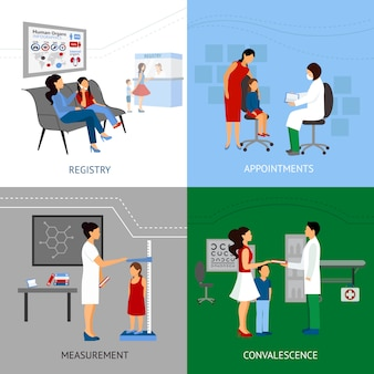 Conceito de design de pediatra