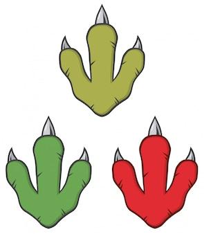 Conceito de design de pegada de dinossauro.