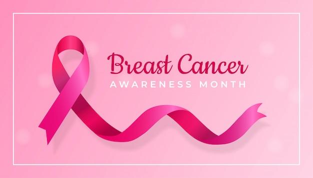 Conceito de design de plano de fundo de mês de conscientização do câncer de mama