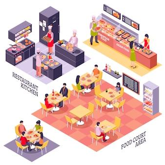 Conceito de design de praça de alimentação