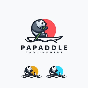 Conceito de design de remo de panda