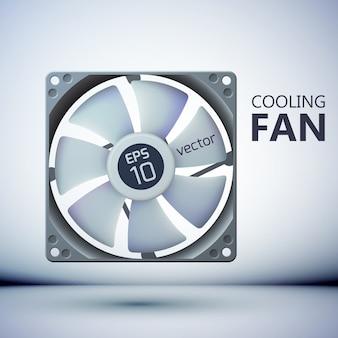 Conceito de design de sistema de refrigeração de computador