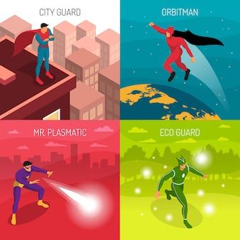 Conceito de design de super-herói