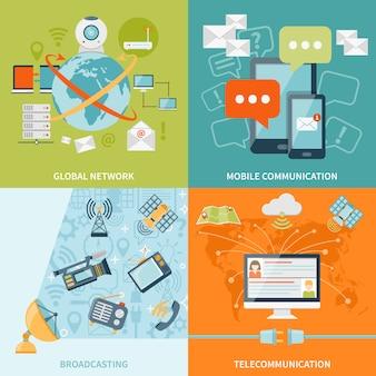 Conceito de design de telecomunicação
