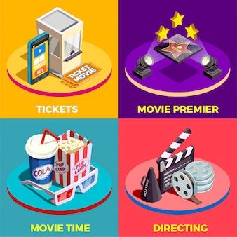 Conceito de design de tempo de filme
