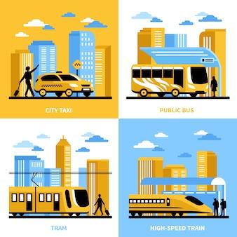 Conceito de design de transporte de cidade