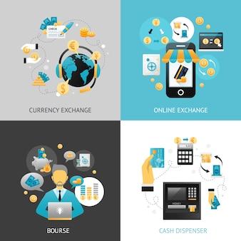 Conceito de design de troca de moeda