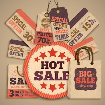 Conceito de design de venda de papelão