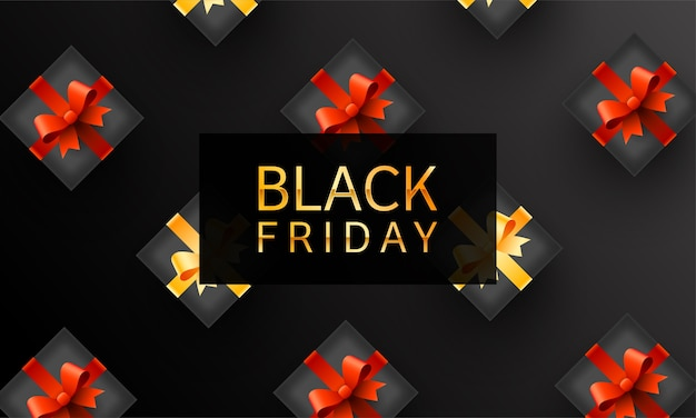Conceito de design de vendas da black friday