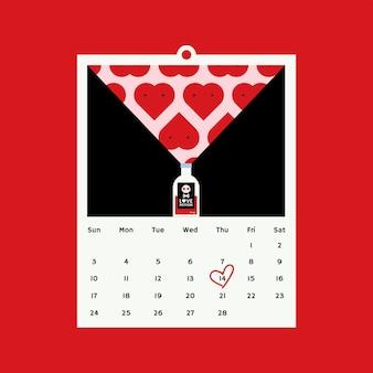Conceito de design de vetor de dia dos namorados