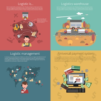 Conceito de design definido para logística