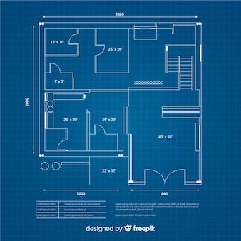 Conceito de design digital de desenho de casa