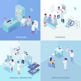 Conceito de design do centro de cuidados de saúde 2x2