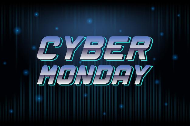 Conceito de design do cyber segunda-feira venda. modelo de design de tendência moderna.