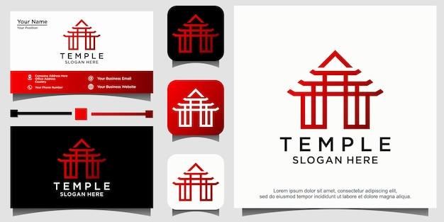Conceito de design do logotipo do templo. logotipo do templo universal.