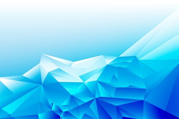 Conceito de design - fundo abstrato com forma de triângulo poligonal com gradiente geométrico branco azul