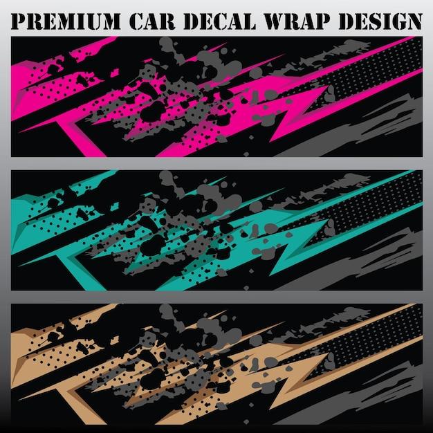 Conceito de design gráfico de carro projetos gráficos abstratos de listras grunge para embrulho