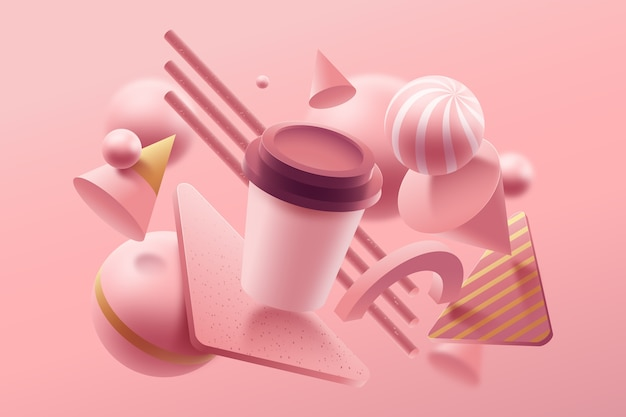 Conceito de design gráfico de cores pastel