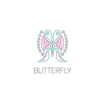 Conceito de design gráfico do logotipo da borboleta. elemento de borboleta editável, pode ser usado como logotipo, ícone, modelo na web e impressão