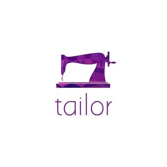 Conceito de design gráfico do logotipo da máquina de costura. elemento editável da máquina de costura, pode ser usado como logotipo, ícone, modelo na web e impressão