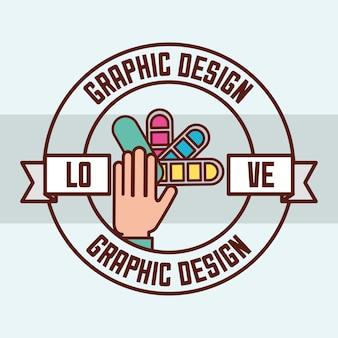 Conceito de design gráfico
