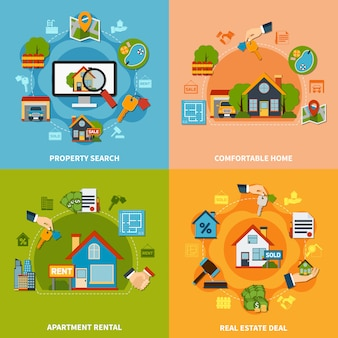 Conceito de design imobiliário