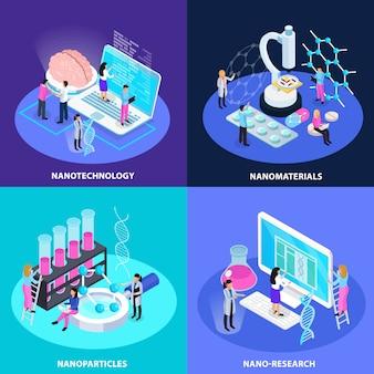 Conceito de design isométrico de tecnologia nano