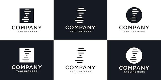 Conceito de design moderno de logotipo de dna criativo, modelo de design de logotipo de geração abstrata