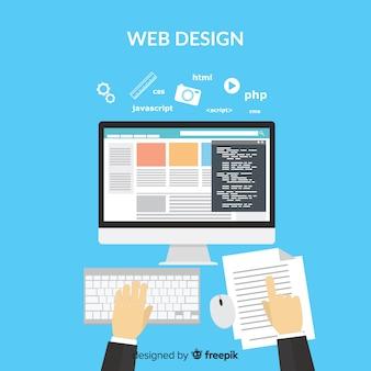 Conceito de design moderno web com estilo simples