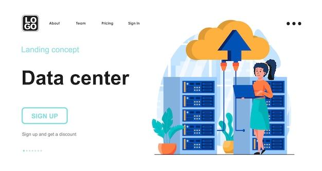 Conceito de design plano de data center